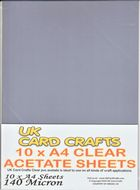 A4 Acetate - 10 sheets per pack, 140 micron